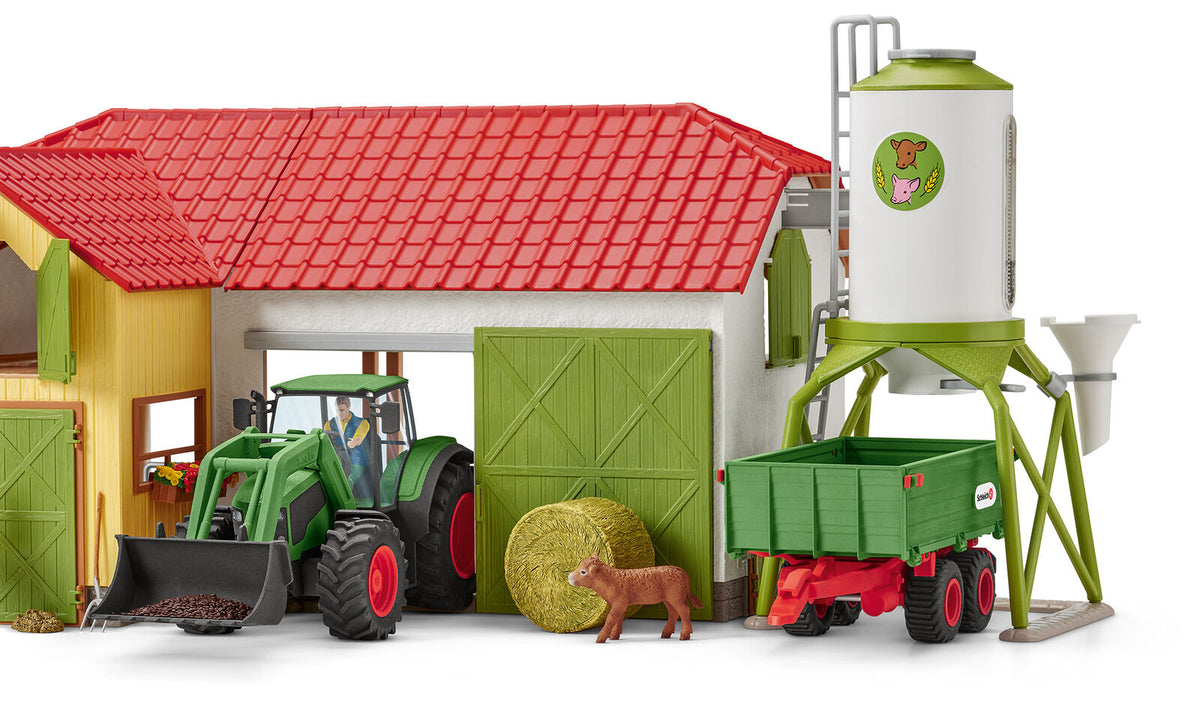 Schleich Tractor with Trailer 42379
