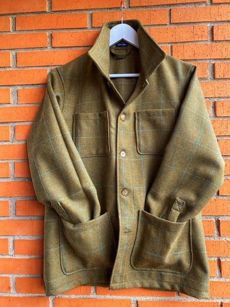 Chaqueta Worker Tweed Green Sq