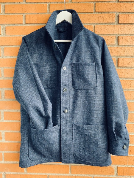 Chaqueta Worker Tweed Navy