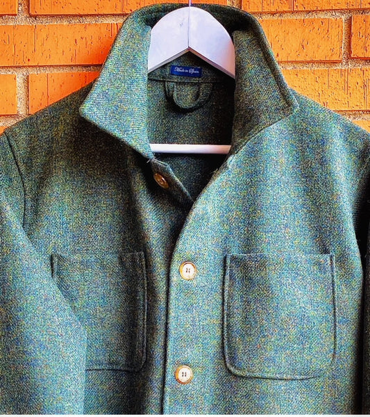 Chaqueta Worker Tweed Green