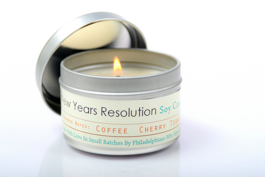 New Years Resolution Candle
