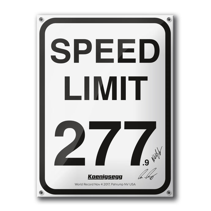 Speed Limit 277.9 Wall Plaque