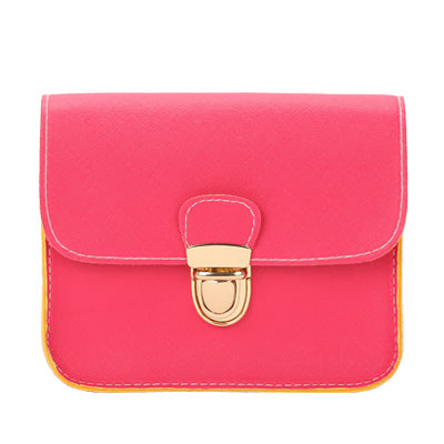 small leather flap handbag