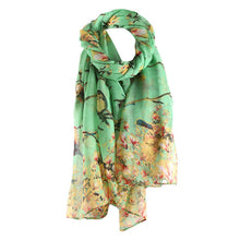 Cotton Floral Bird Scarf