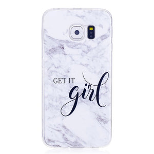 White Marble Soft TPU Case For Samsung Galaxy