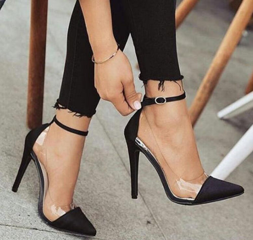Shoefits cheap high heels clear heels clear pump heels stilettos for sale