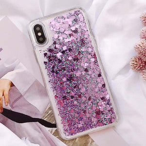 Heart Liquid Phone Case For iPhone
