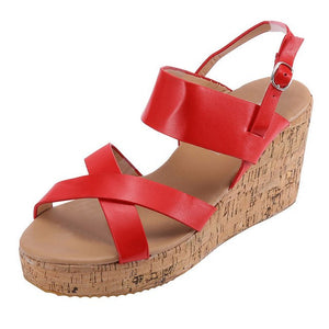 Smiley Wedge Sandals