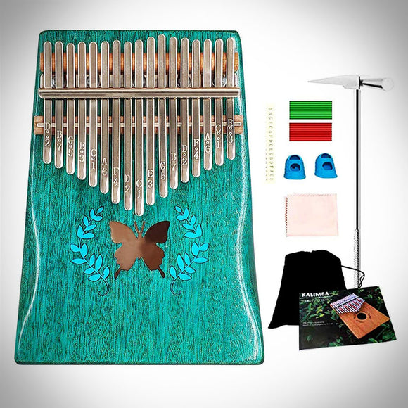 Luxury Kalimba - 17 Keys Thumb Piano(Blue Butterfly)