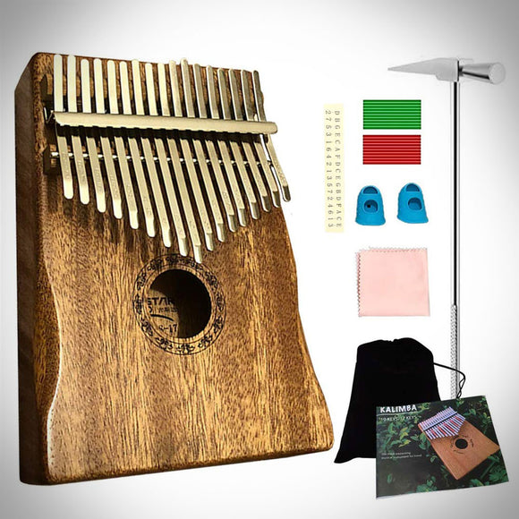 Luxury Kalimba - 17 Keys Thumb Piano(Classic Brown)