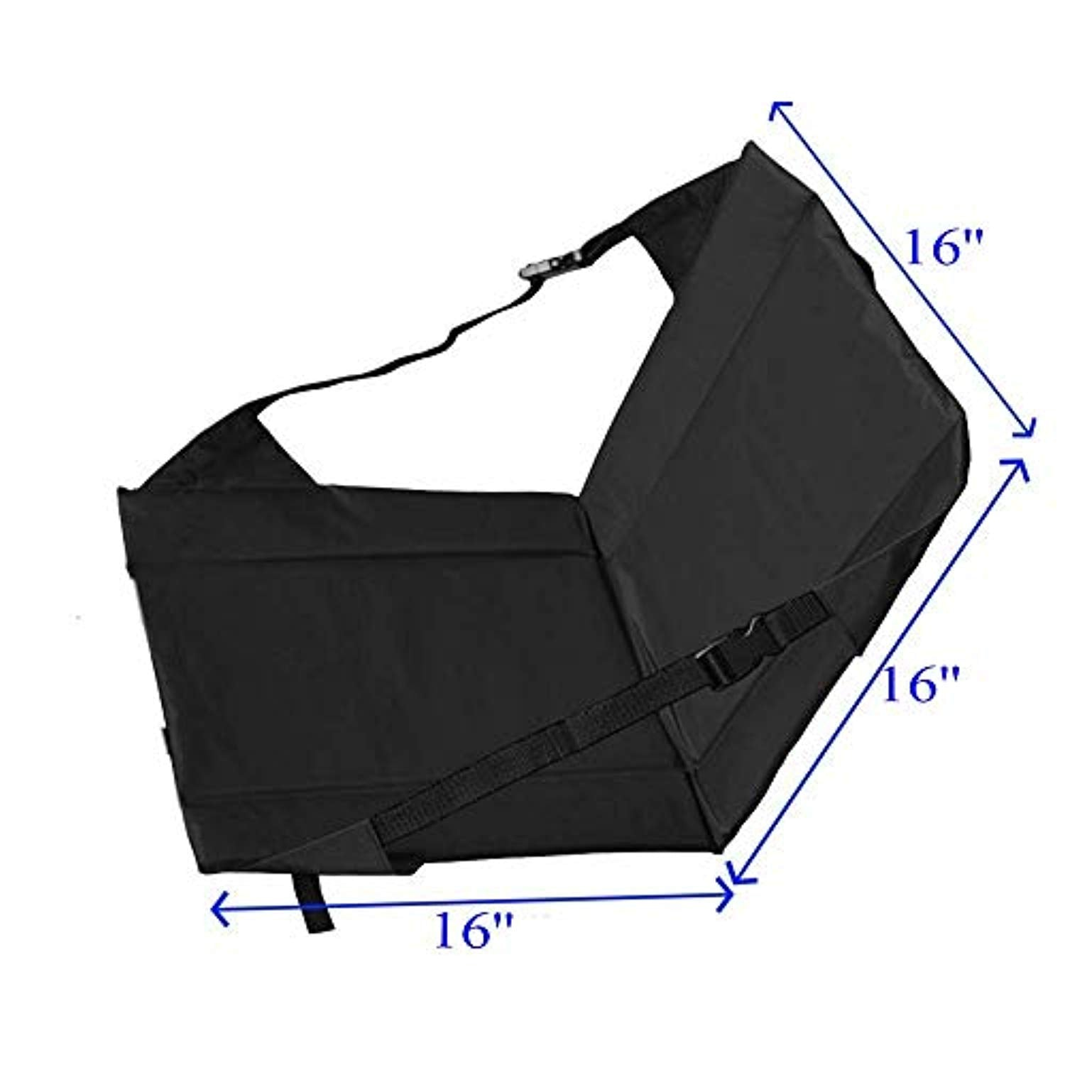 Ationgle Stadium Seat Portable Oxford Folding Chair Bleacher Padded Cushion Seat Ultralight Durable Outdoor Seat for Hiking, Beach and Camping