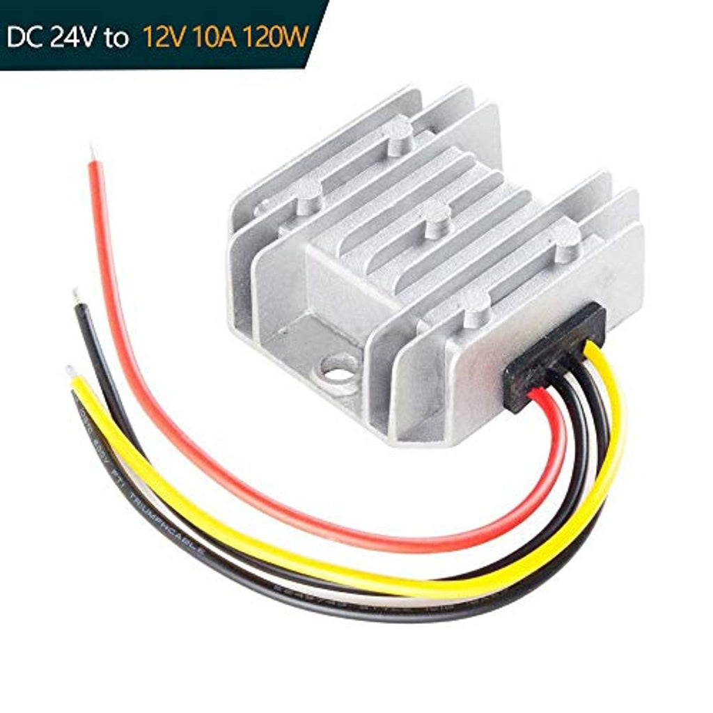 Ationgle DC Converter Regulator Reducer - 24V Step Down to 12V - 10A 120W Power Supply Transformer Voltage Convert Volt Module Waterproof
