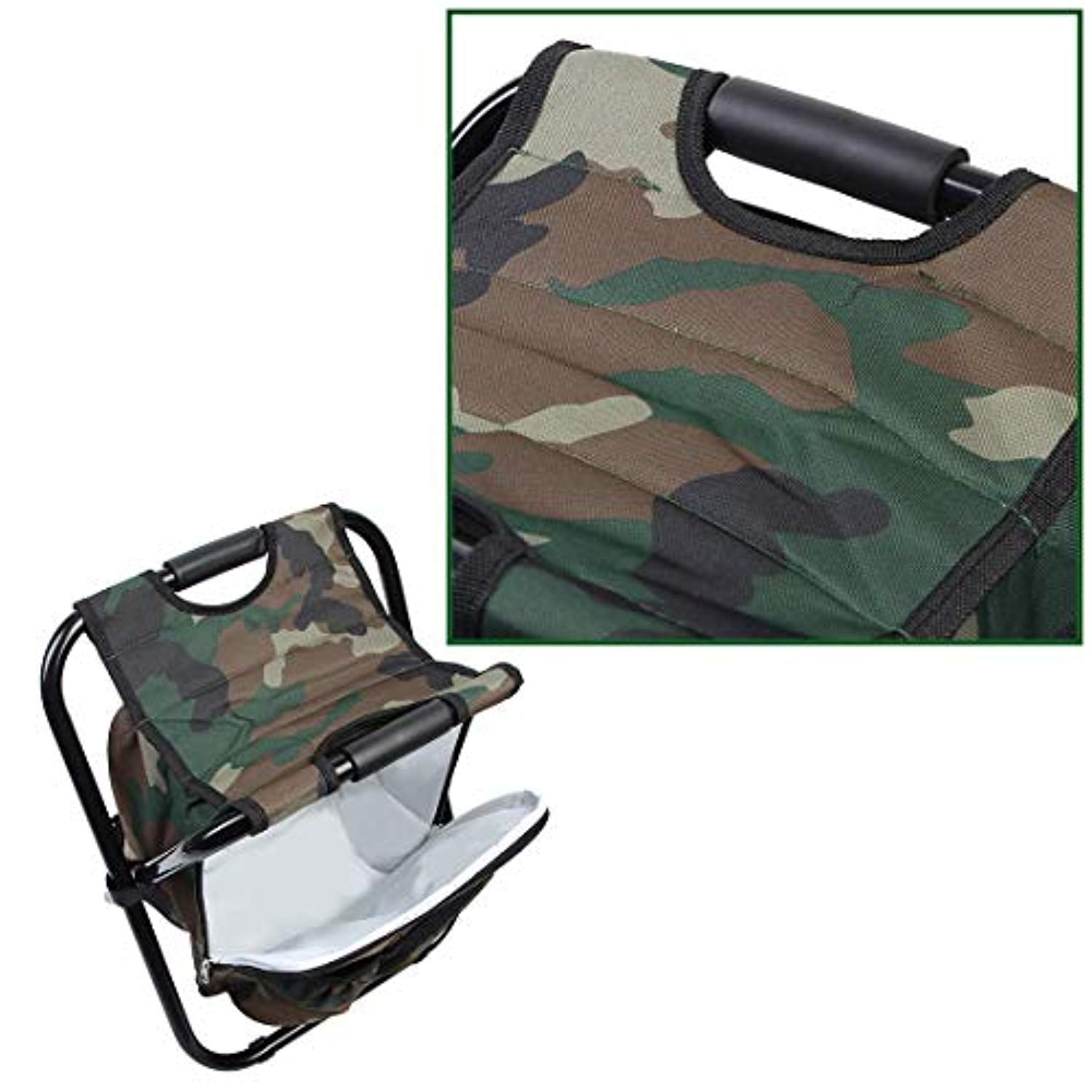 Ationgle Backpack Coolers - Heavy Duty Camping Chair, Ultralight Portable Folding Camping Backpacking Chair, Smart Camping Gear Beach Accessories Hiking Backpack, Camo