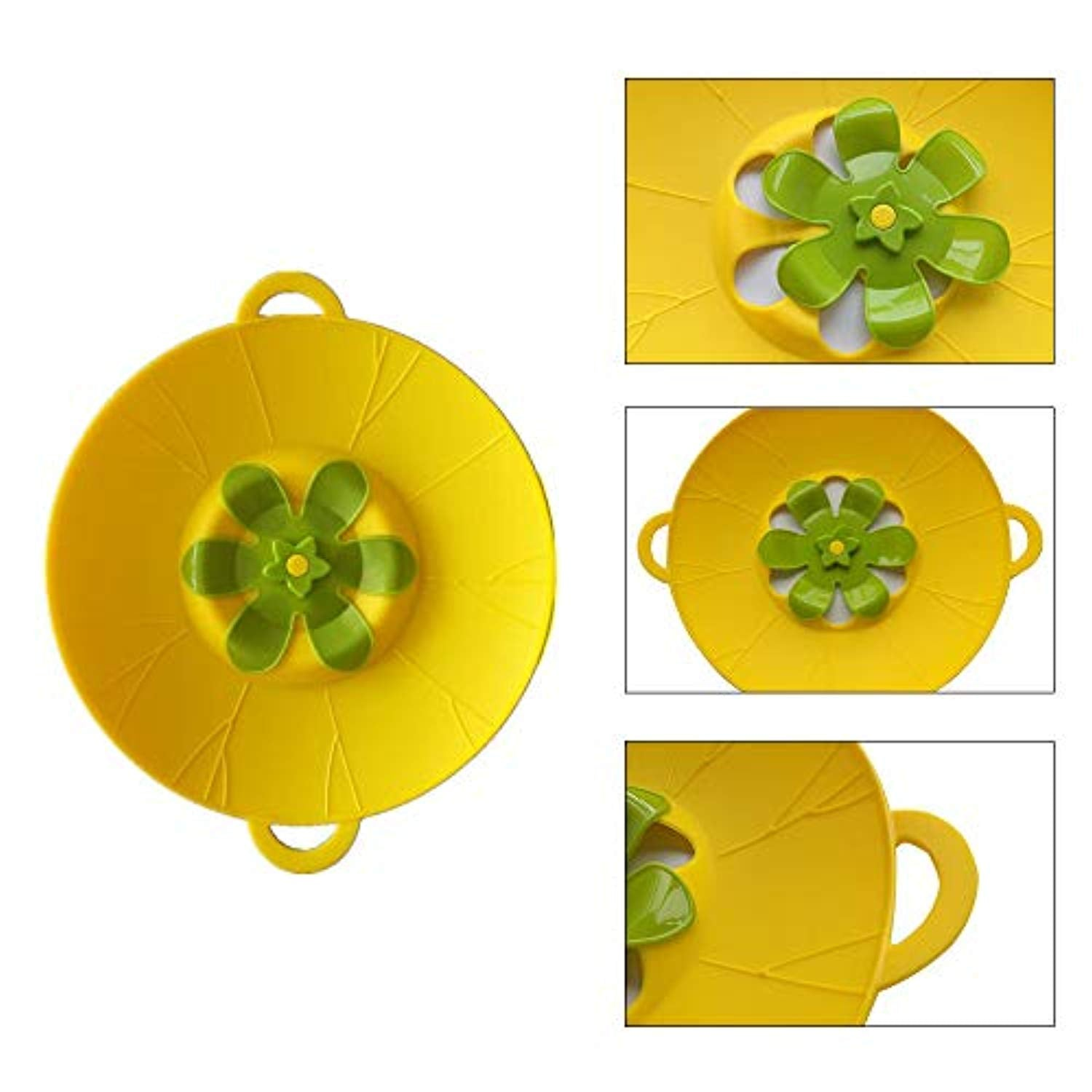 Spill Stopper Lid Cover 10.2 inch Silicone Boil Over Safeguard Pot Lid Prevent Messy Spillovers BPA-Free Food Grade Anti Spill Pan Cover Multi-Function Cooking Kitchen Tool