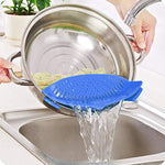 Ationgle Silicone Snap Strainer 8.7x3.1x2.3 inches Fits all Pots and Bowls - Durable Clip-on FDA Food Snap Clip Colander Kitchen Flexible Heat Resistant