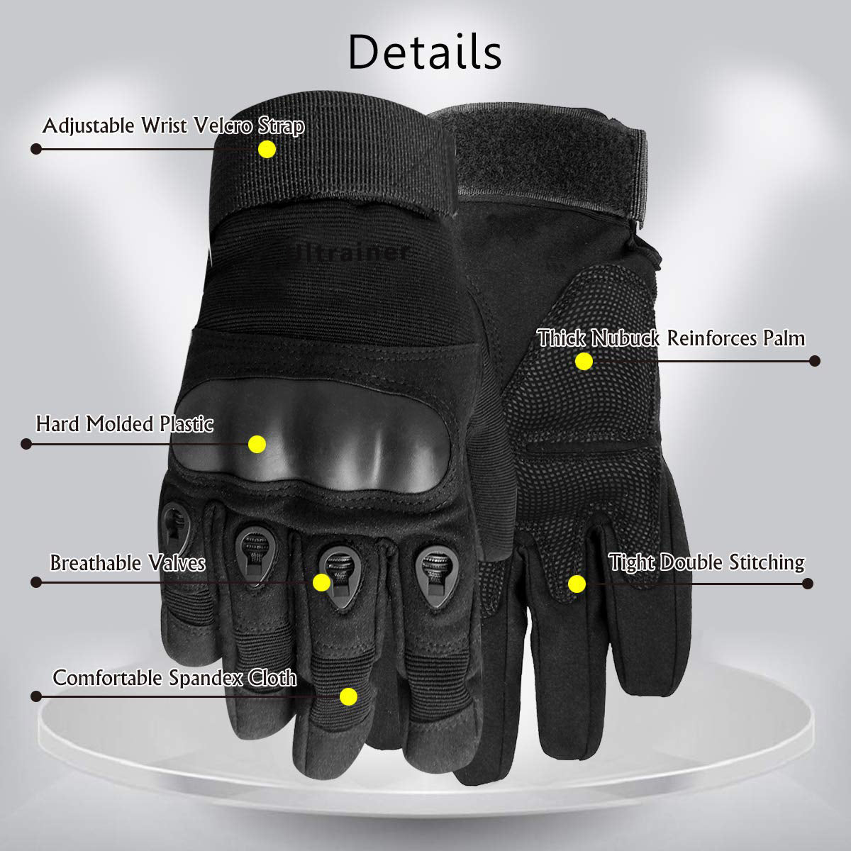 Full Finger Gloves for Motorcycle Cycling Motorbike Riding Protect Knuckles for Racing Mountain Bike Bicycle Off-Road Motocross Outdoor Sports Military Tactical Combat Training Gloves Unisex