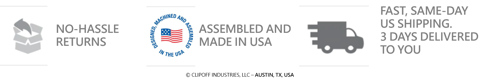 assembled and shipped form america