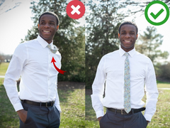 modern tie stay to keep  your tie centered