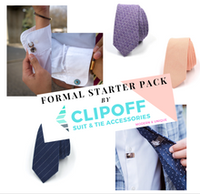 Load image into Gallery viewer, Formal Starter Pack Bundle - CLIP OFF Suit & Tie Accessories