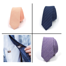 Load image into Gallery viewer, Tie + Tie Stay Bundle - CLIP OFF Suit & Tie Accessories