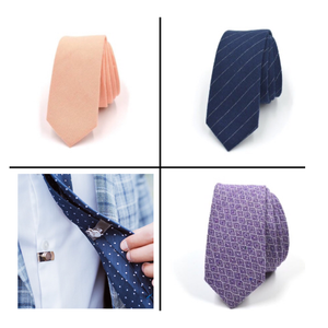 Tie + Tie Stay Bundle - CLIP OFF Suit & Tie Accessories