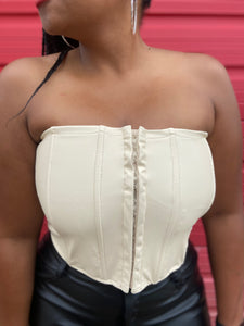 Get it Girlz  Faux Leather Corset (2 Colors)