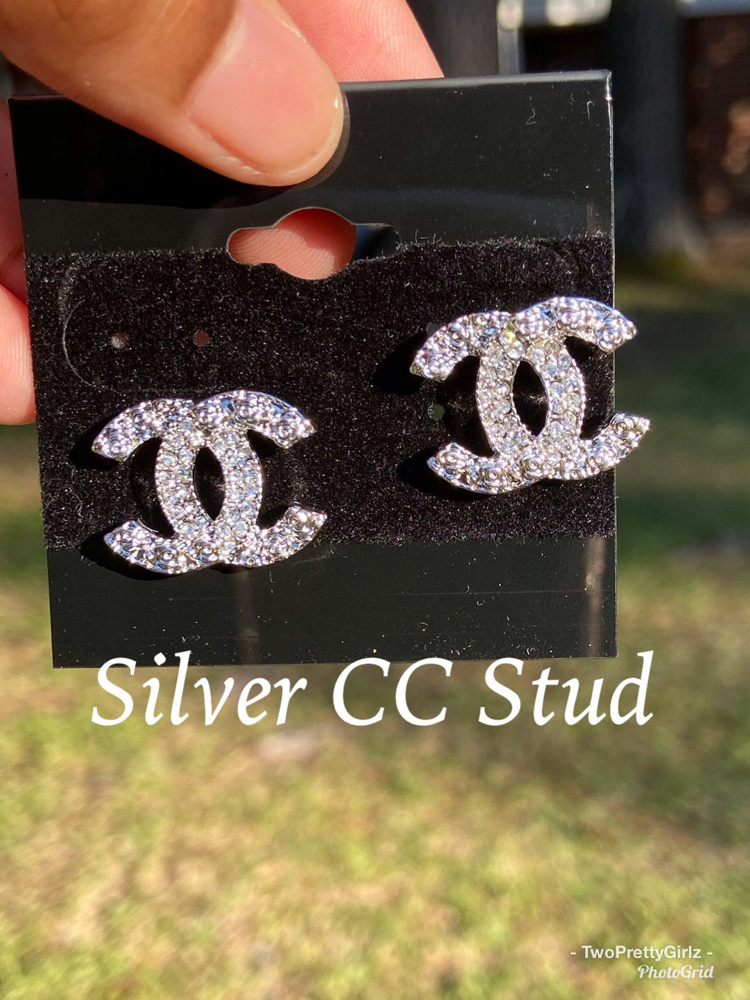 CC  Inspired Stud Earrings (Silver)