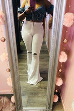 White Angel Denim High Waist Destroyed Bell Jeans