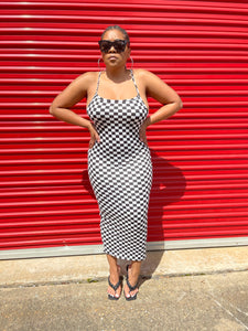 Checkers not Chess Bodycon Dress