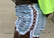 Lace me up Denim Shorts