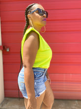 Pretty Girlz Neon Green Padded Shoulder  Tee