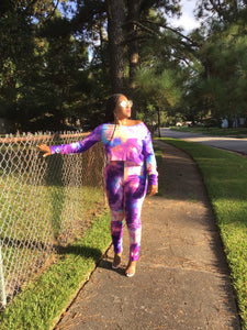 Purple Tie Dye Love-Sizes up to 1X