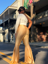 Gold Disco High Waist Bell Bottoms