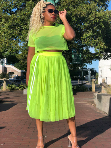 Neon Mesh/Tulle Skirt Set