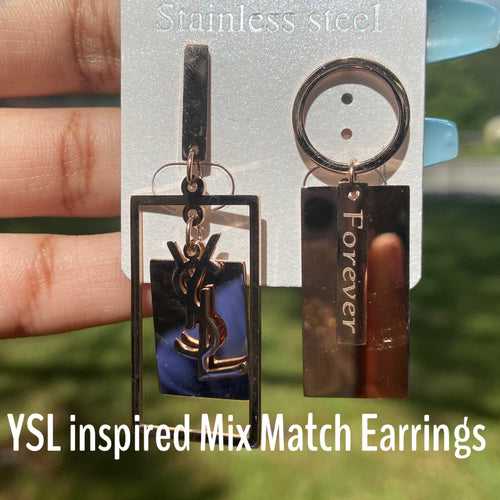 YSL Designer Inspired Earrings (Variety of Styles)