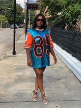 Sequin orange  & Turquoise Mini Dress