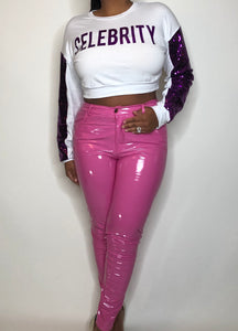 Valentine Pink Latex Pants