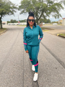 Teal Color Block  Active Set