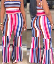 Fuchsia Multi Candy Stripe  Bell Bottom