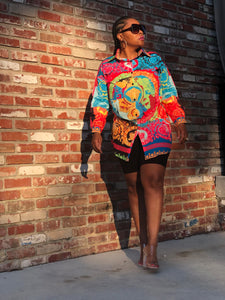 It's Lit Multi Print Shirt Dress