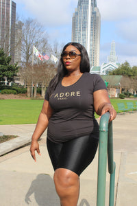 Curvy/Plus Black, Sequin Graphic Tee