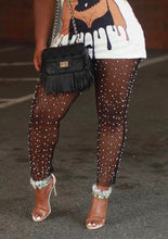 Pearl Leggings-Black Sheer