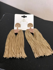 Tassels Earrings with Gold Detail