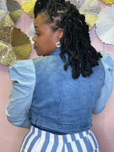 Pretty Puff Sleeve Denim Jacket