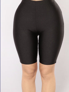 Curvy/Plus Black Biker spandex Shorts