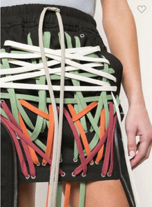 Pretty Color Strung Up Skirt