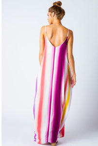 MULTI COLOR OMBRE MAXI DRESS-Plum
