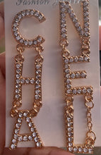 Chanel Inspired  Block Letter Earrings
