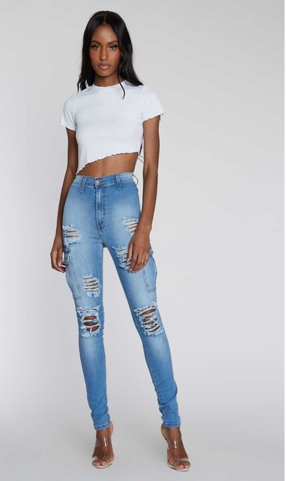 Denim Distressed Jeans (Limited Quantities)