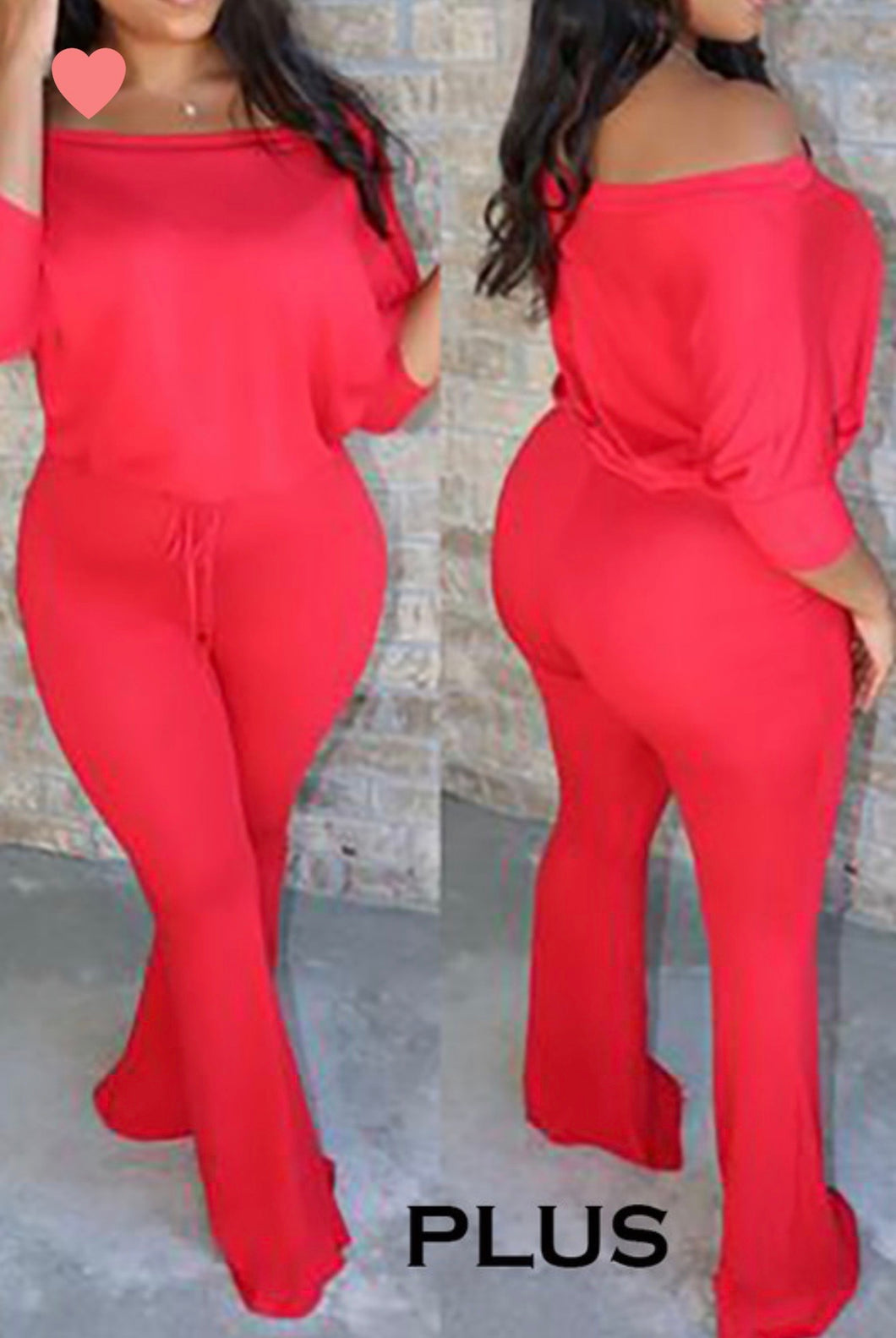 Plus Size  Red Sharon Jumpsuit